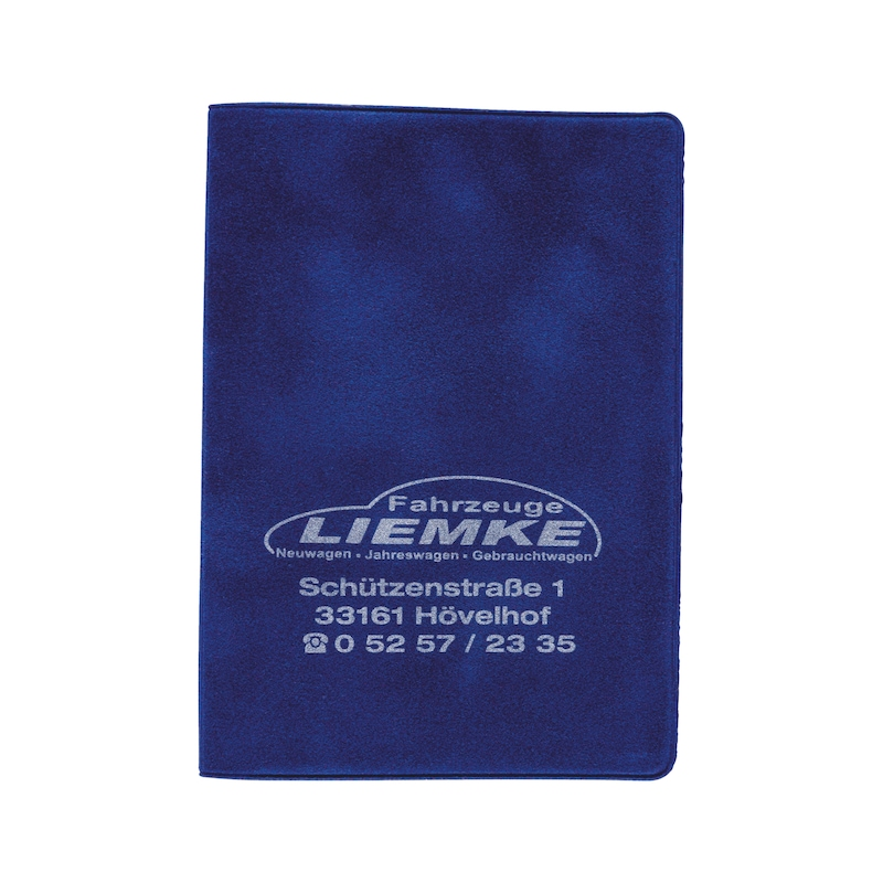 Velour driving licence wallet - HOLD-VELOUR-BLUE-1COL