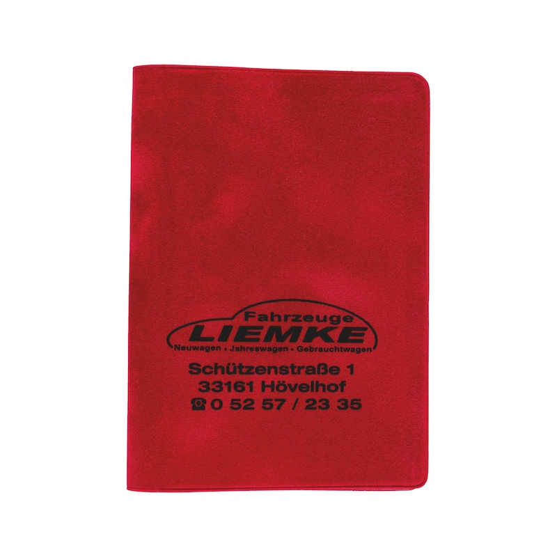 Velour driving licence wallet - HOLD-PRNT-VELOUR-RED-1COL