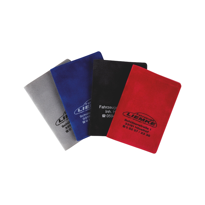 Velour driving licence wallet