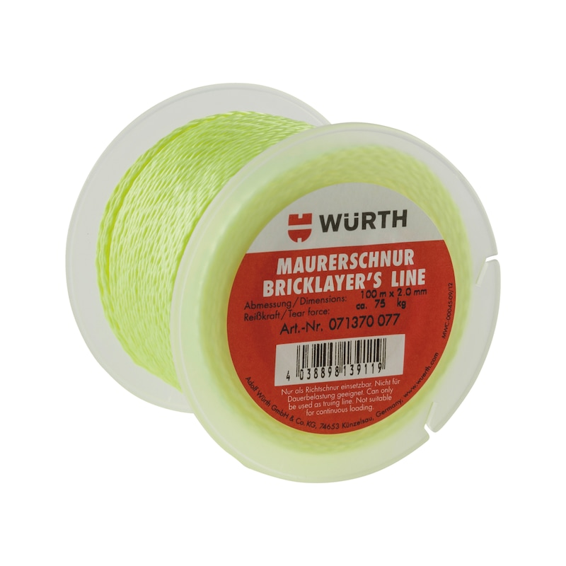 Bricklayer cord, polypropylene, fluorescent