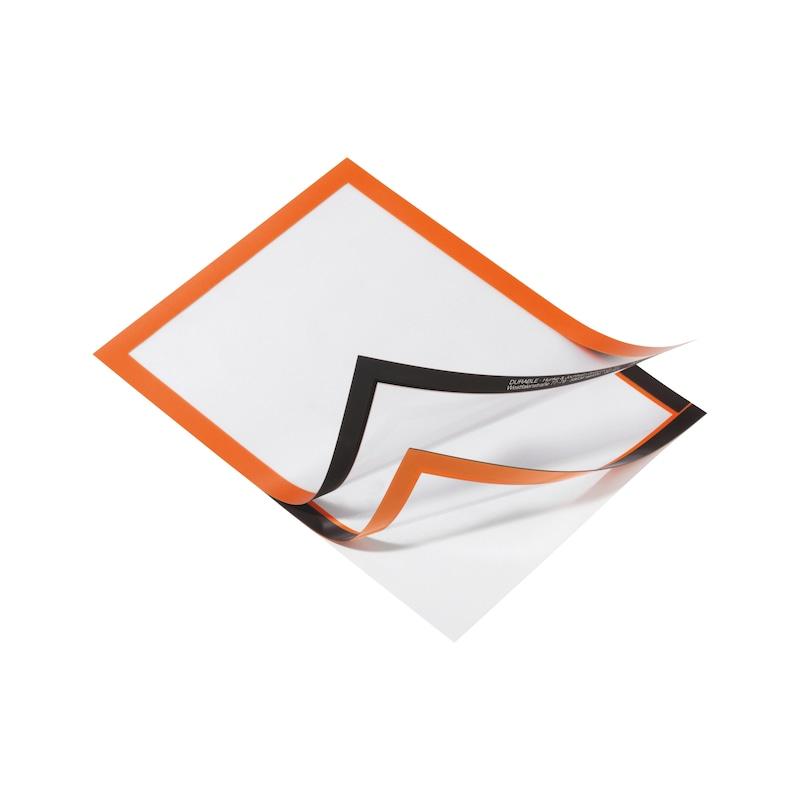 Info-Rahmen, selbstklebend - DOKUHALT-SELBSTKLBND-A4-ORANGE