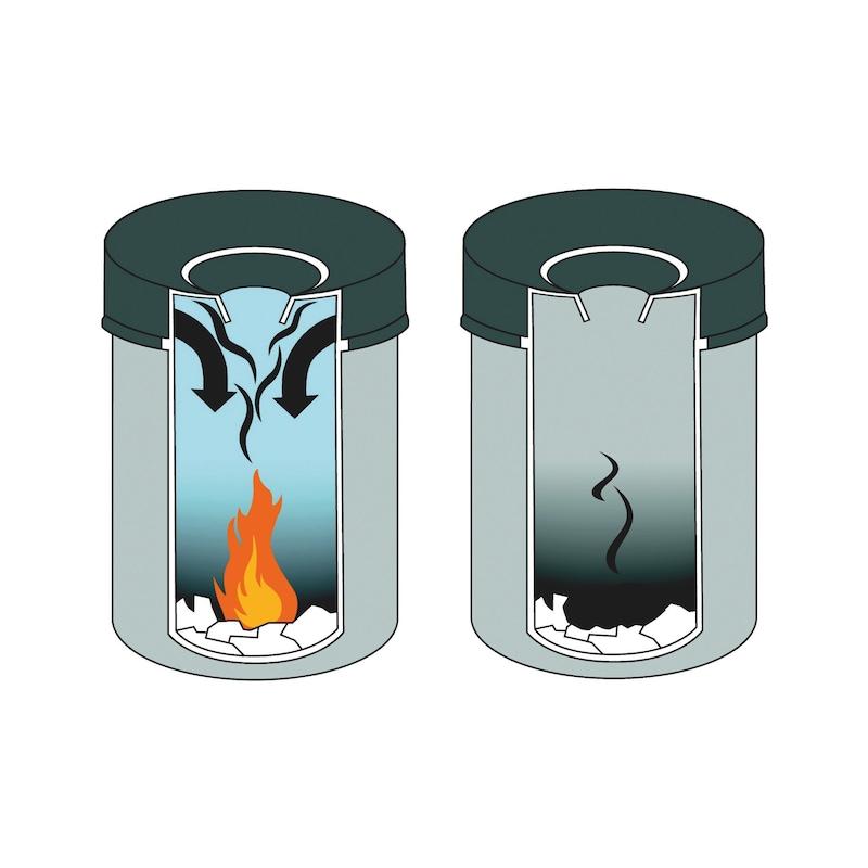Papierkorb mit Flammenlöschkopf - 2