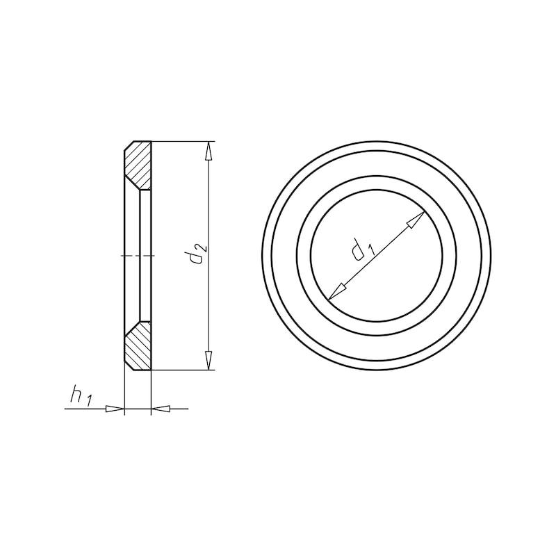 Flache Scheibe mit Fase für HV-Garnitur - SHB-HV-EN14399/6-K1-RD-(TZN)-D20