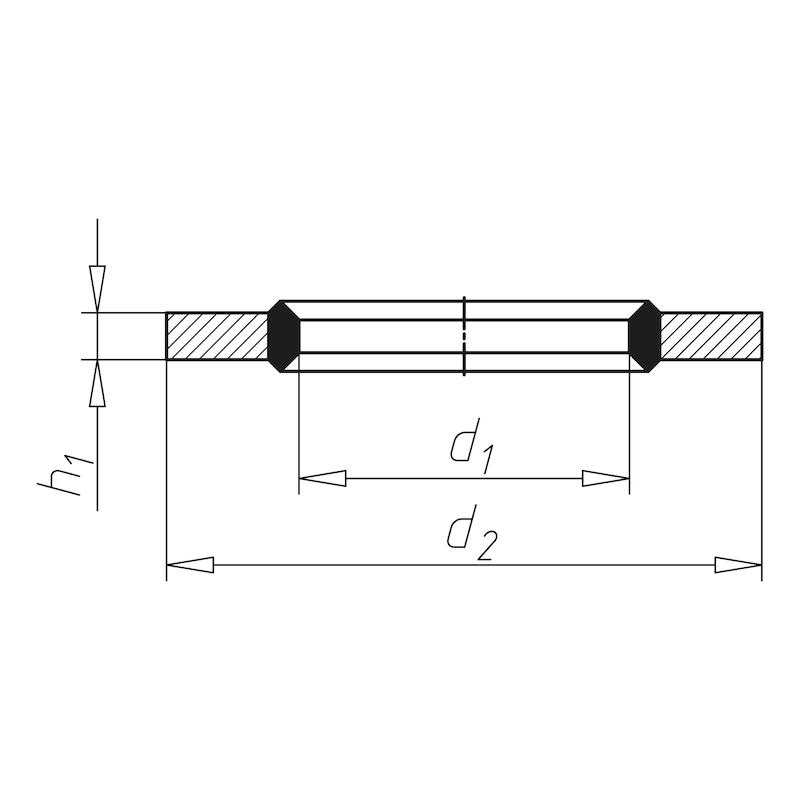 Bague d'étanchéité, auto-centrée - ROND-(A2C)-D6