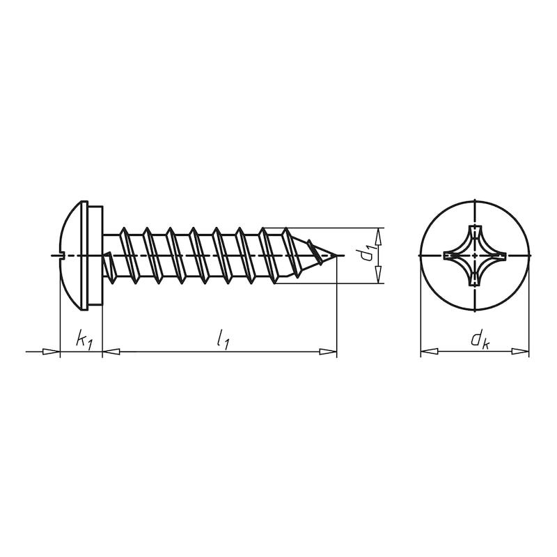 Linsen-Blechschraube mit Kreuzschlitz Z - 2