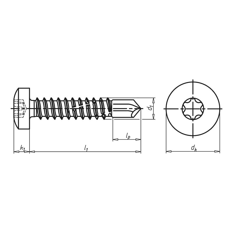 Self-drilling façade construction screw with pan head and AW drive piasta<SUP>®</SUP> - 2