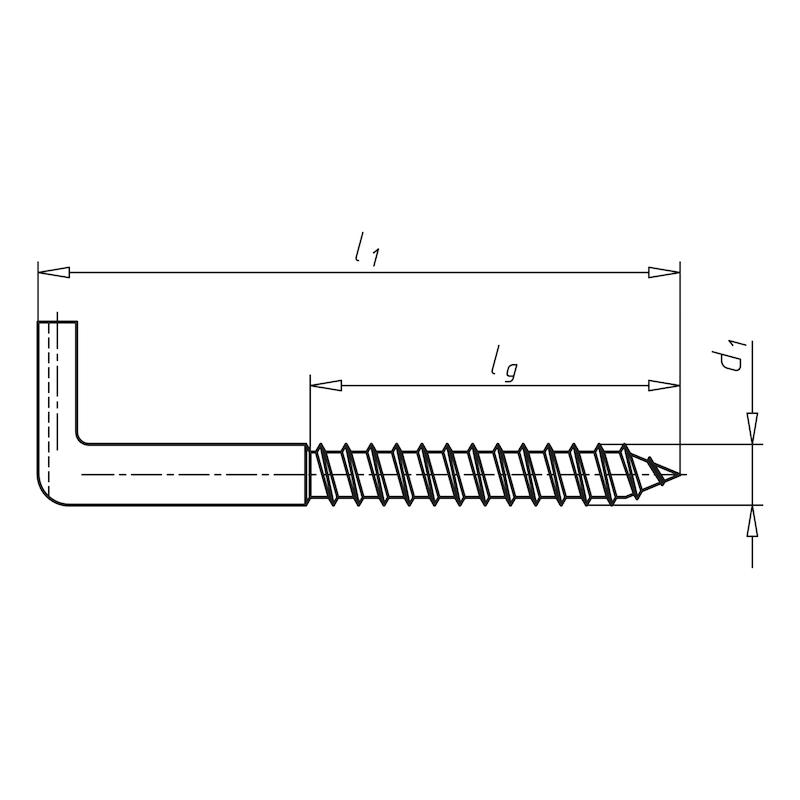 Schraubhaken mit Schlitz - 2