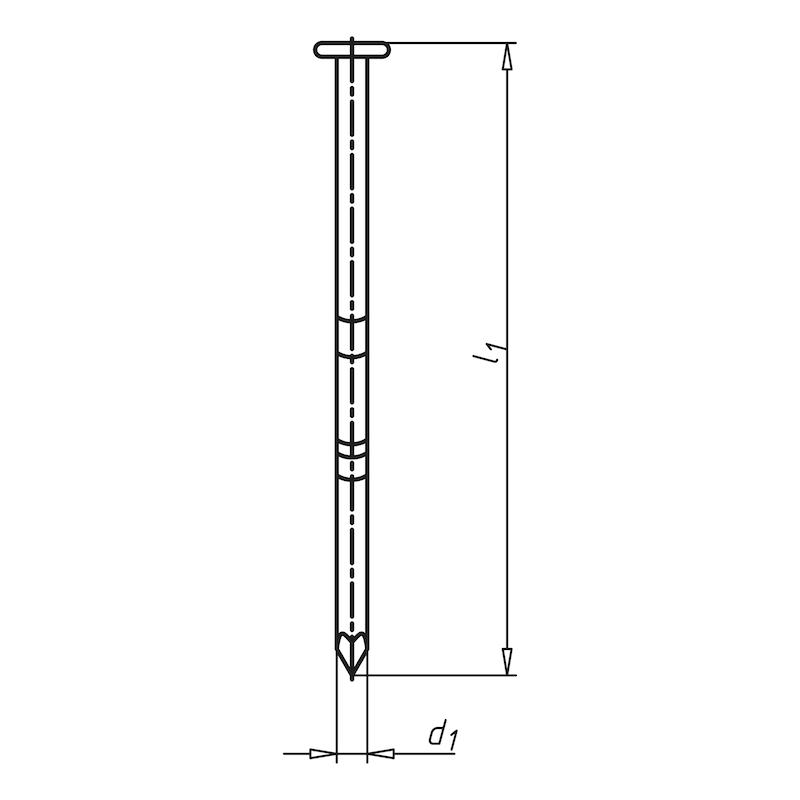 Halbkopf-Streifennagel 34° mit glattem Schaft - 2