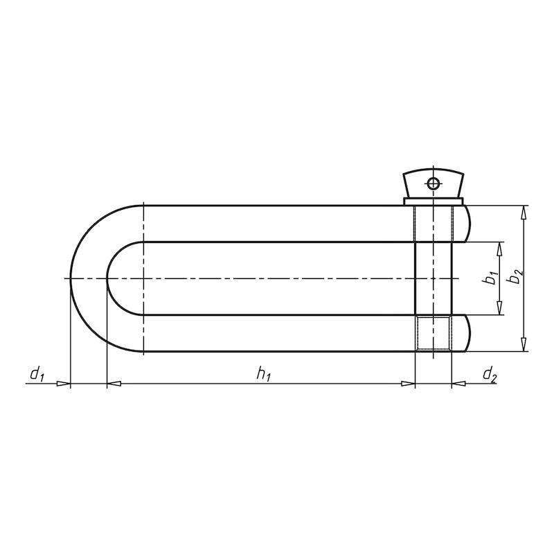 Schäkel lang - SHKL-LNG-A4-D8