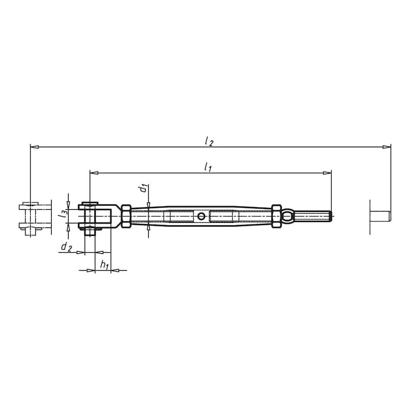 Ridoir à chape usinée/terminaison câble métallique - 2