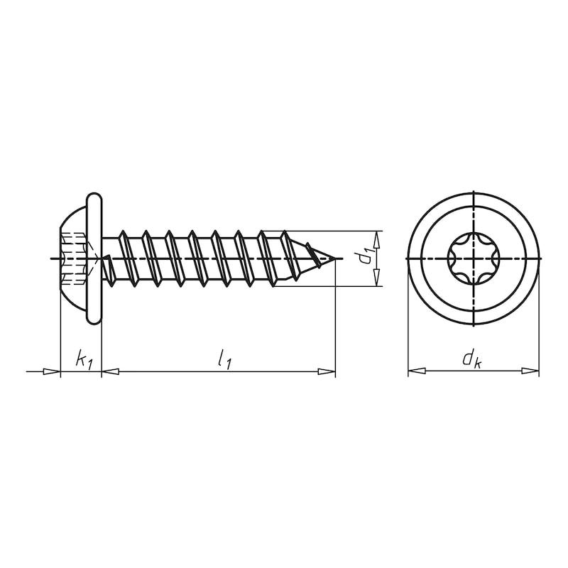 Linsenkopf-Blechschraube Form C mit Flansch - SHR-LIKPF-FLSH-C-AW20-(DSS)-4,2X38