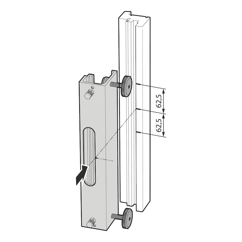 Fräslehre für Fensterfalzlüfter Typ A - 2
