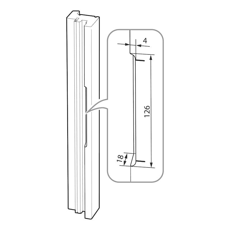 Fräslehre für Fensterfalzlüfter Typ A - 3