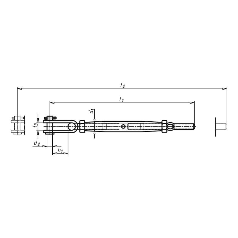 Ridoir à chape articulée/terminaison câble métallique - 3