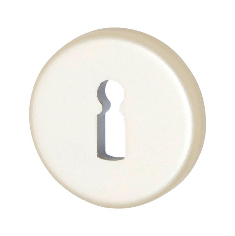 Schlüsselrosettenpaar AL 30 - TD-ALU-AL30-ROS-BB-F2/NEUSILBER