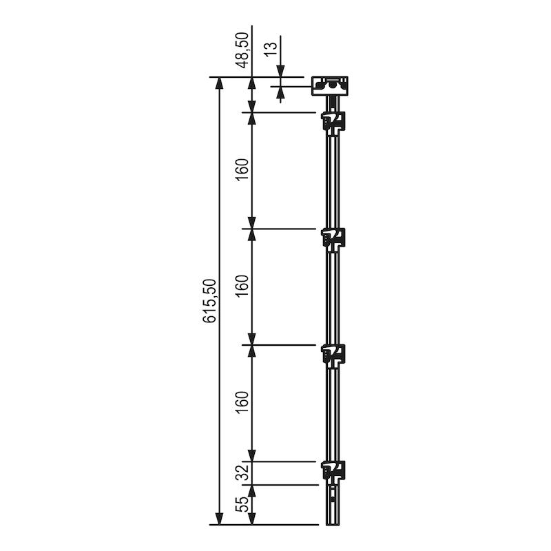 Zentralverschluss OrgaAer - ZB-ZENTVERSHL-BRT-BUERO-HRSTR160-636MM