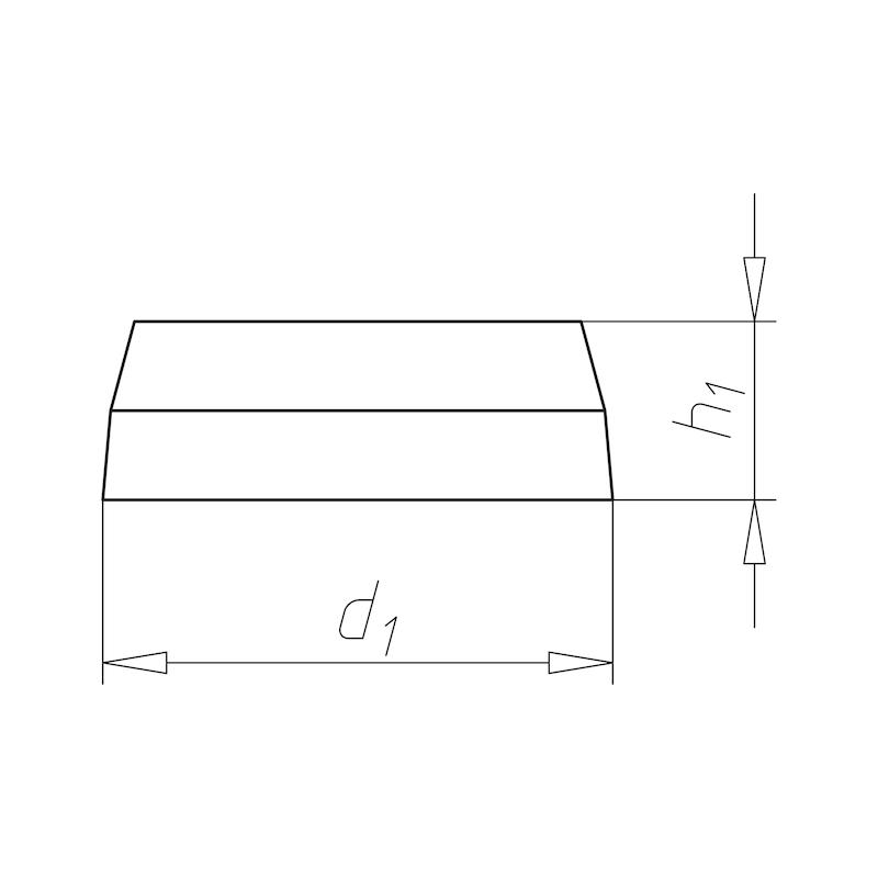 Abdeckkappe für Blechschrauben und Fensterbankschrauben - ABDEKA-(0126)-R7001-SILBERGRAU-D3,9