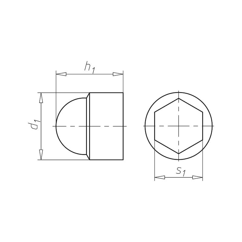 Capuchons pour vis et écrous hexagonaux - 2