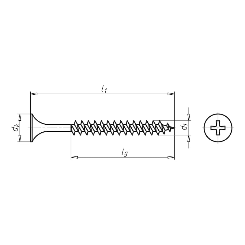 Dry wall screw with double-start thread - 2
