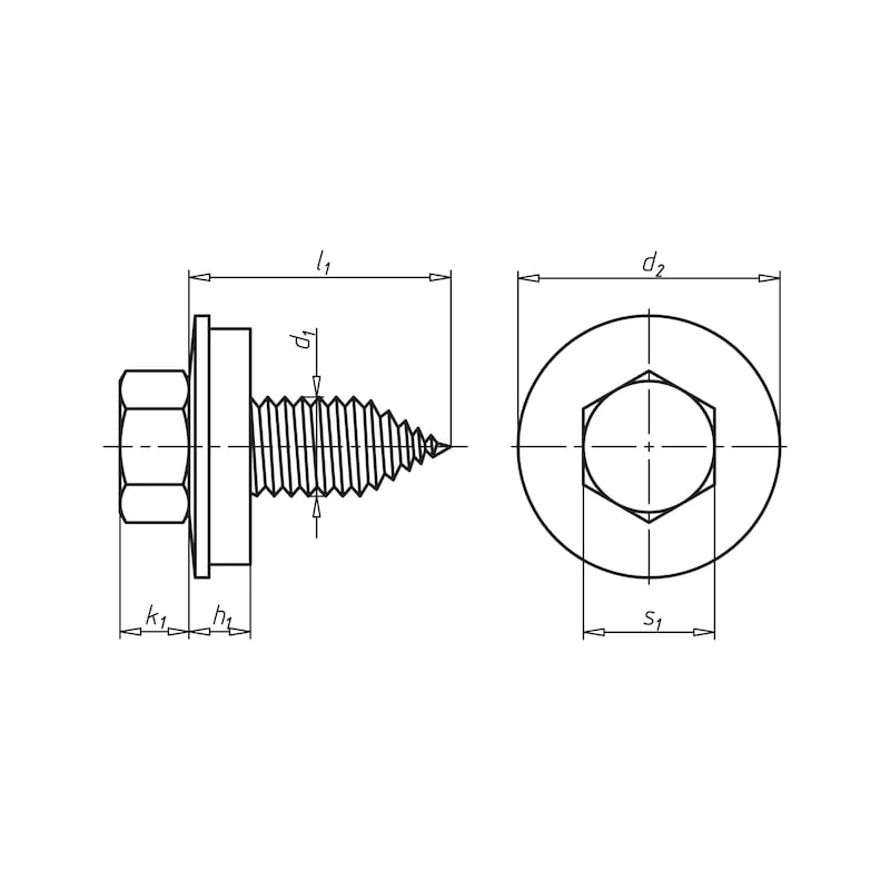 Reparatur-Fassadenbauschraube mit Sechskantkopf und Dichtscheibe Faba<SUP>®</SUP> Typ A - 2