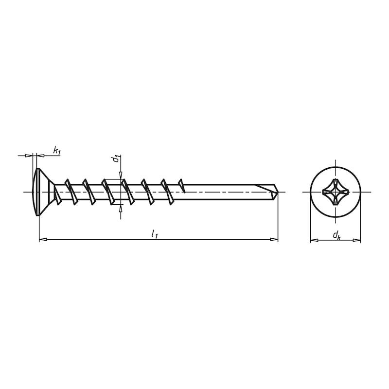Eck-Lagerschraube selbstbohrend mit Linsensenkkopf und Kreuzschlitz H FEBOS<SUP>®</SUP> ELS - 2