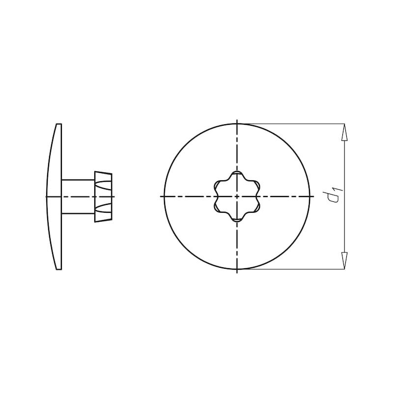 Abdeckkappe AW-Antrieb - 0