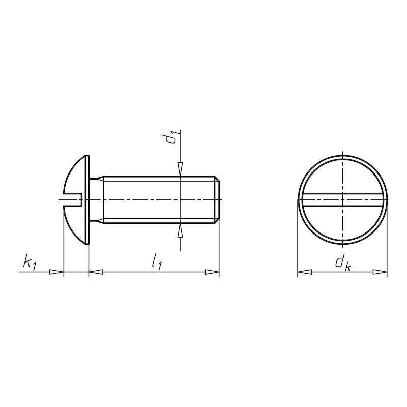 Flachrundschraube mit Schlitz - 2