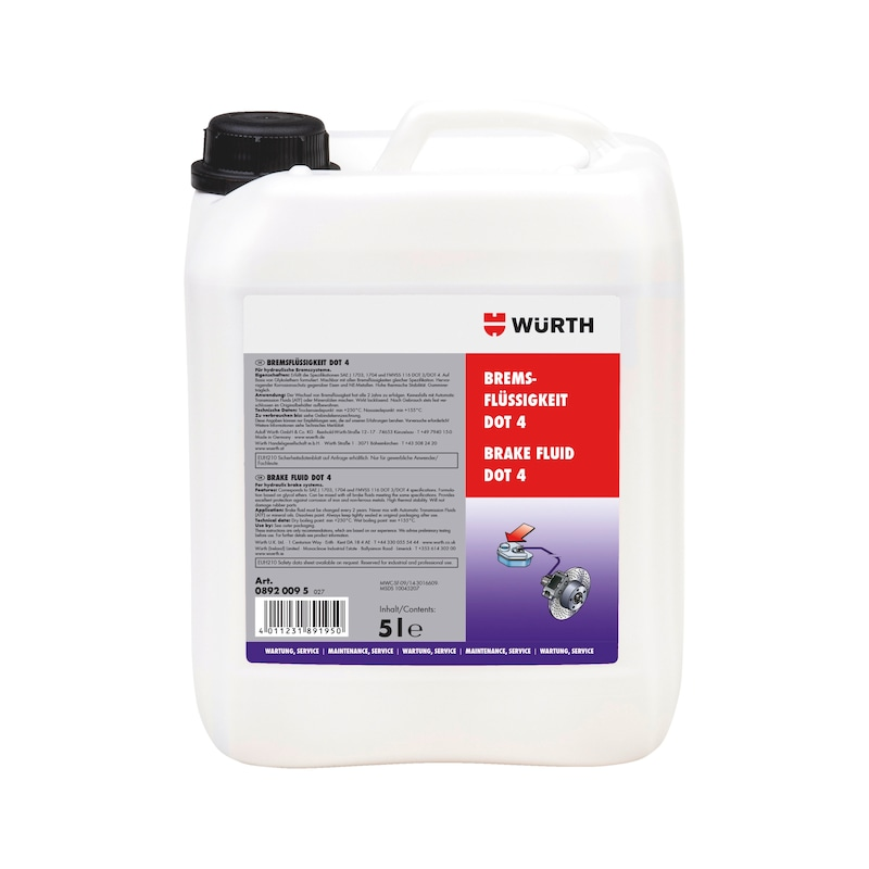 Brake fluid DOT 4 - BRKFLUD-(DOT 4)-5LTR