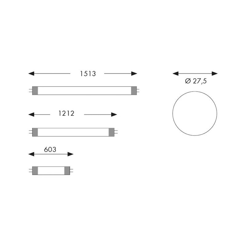 Ampoule LED pour tubes T8 330°  - TUBE LED T8 1,2M-23,5W-4000K-2400LM