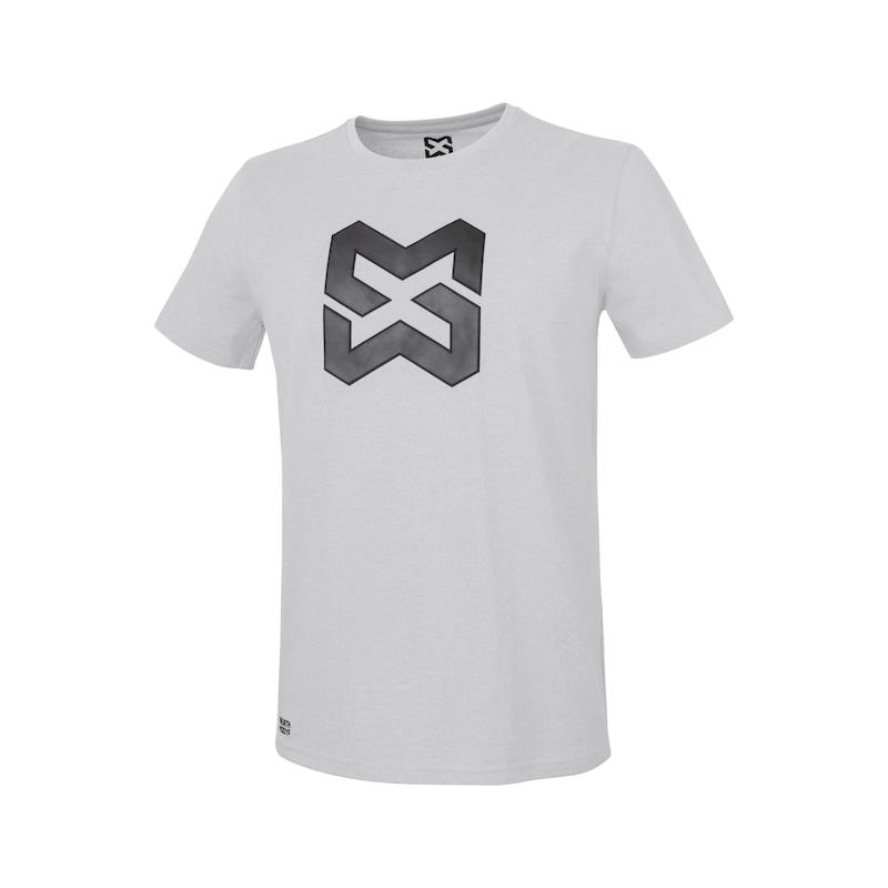 Arbeits T-Shirt Logo IV - T-SHIRT LOGO IV HELLGRAU XL