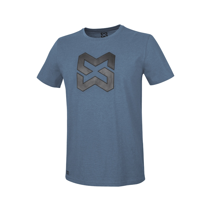 Arbeits T-Shirt Logo IV - T-SHIRT LOGO IV DUNKELBLAU 4XL