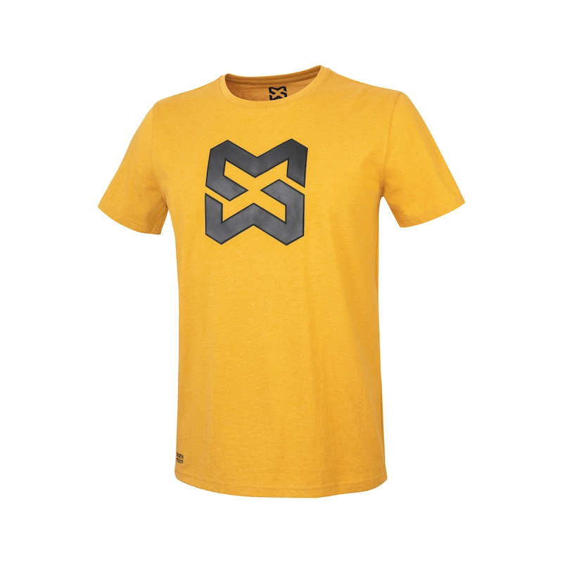Arbeits T-Shirt Logo IV - T-SHIRT LOGO IV SENFGELB XL