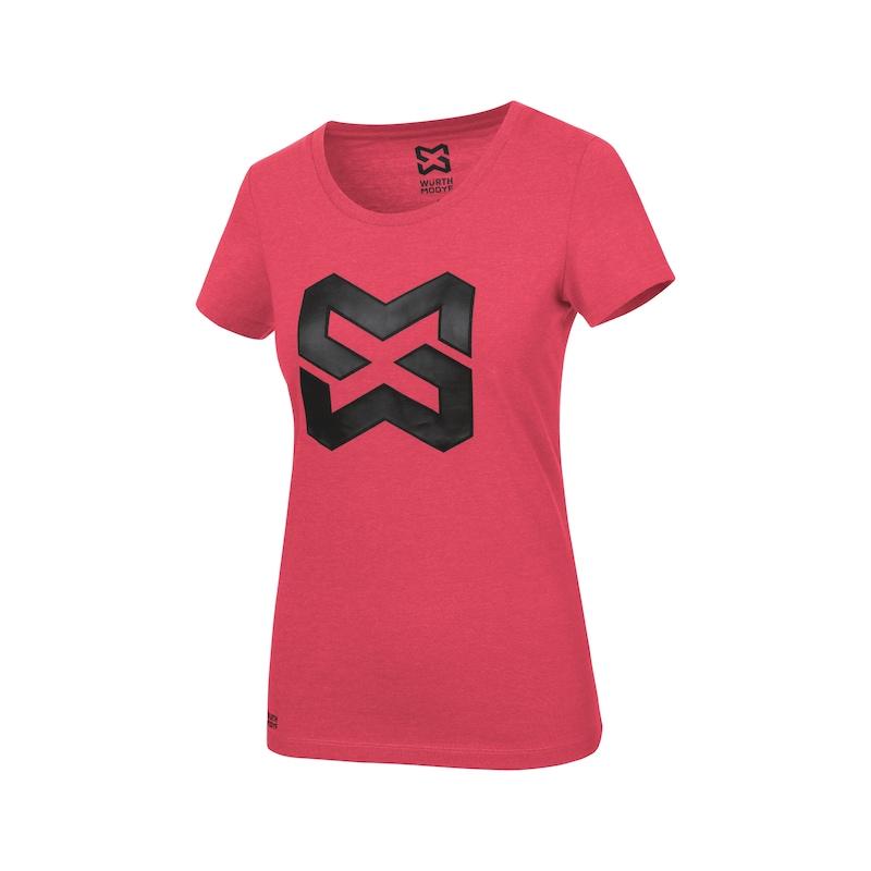 Arbeits T-Shirt Logo IV Damen - T-SHIRT LOGO IV DAMEN ROT S