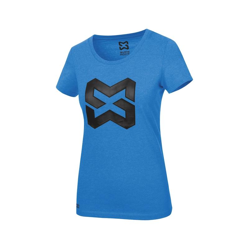Arbeits T-Shirt Logo IV Damen - T-SHIRT LOGO IV DAMEN ROYALBLAU L