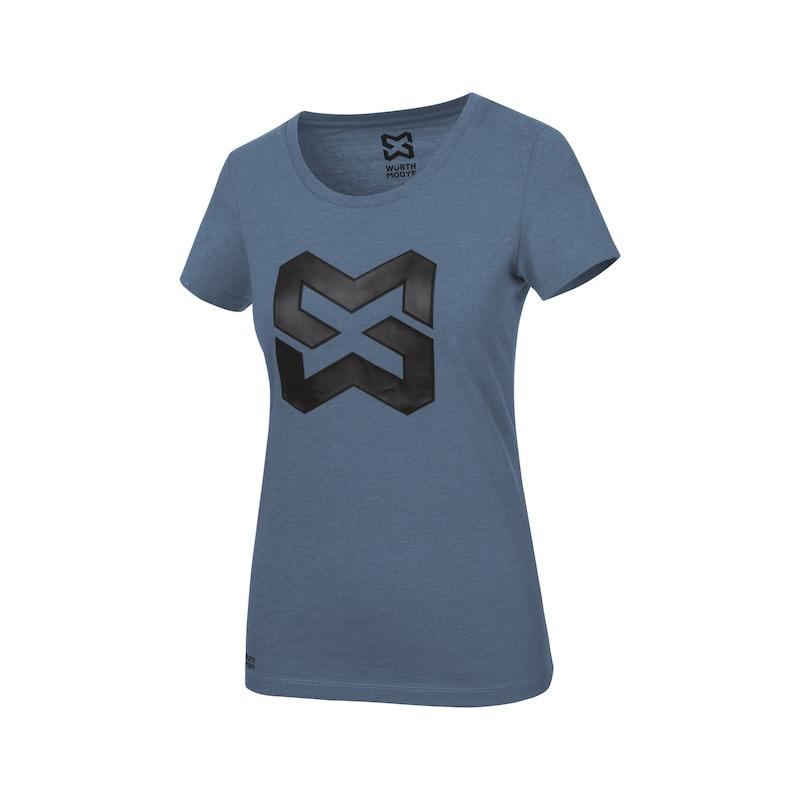 Arbeits T-Shirt Logo IV Damen - T-SHIRT LOGO IV DAMEN DUNKELBLAU L