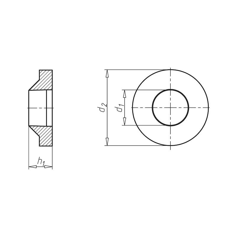 Klemmscheibe - SHB-KLE-F.METR/BLSHR-PA-NATUR-D5