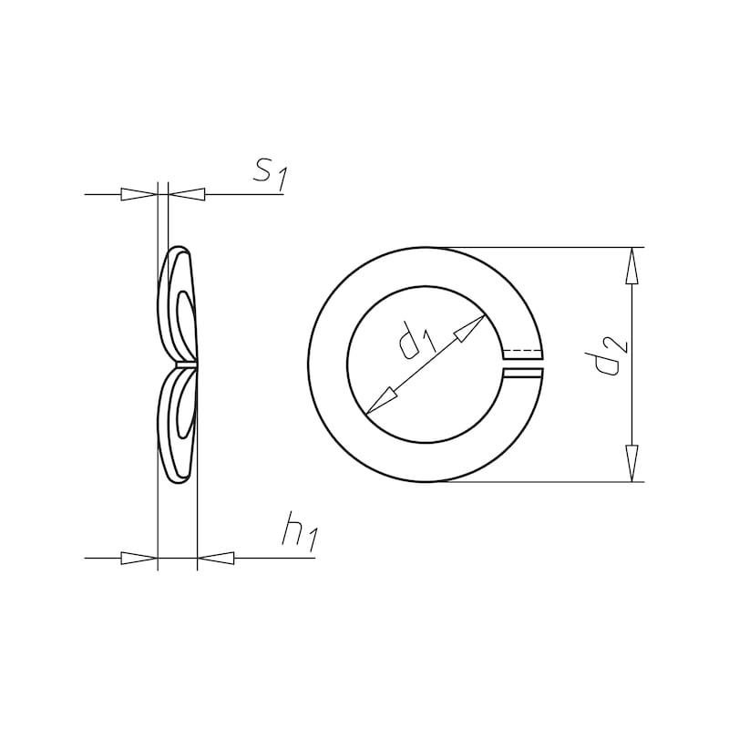 Federring, gewölbt Form A - RG-FED-DIN128-A-(MZG)-D6,1