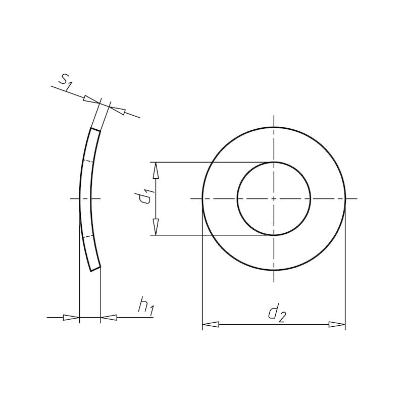 Rondella di sicurezza elastica Forma A - 2