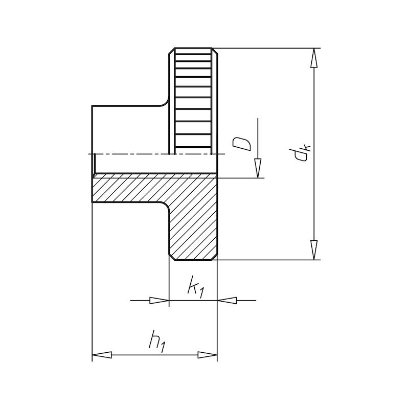 Rändelmutter hohe Form - MU-RAEND-DIN466-5-(A2K)-M2