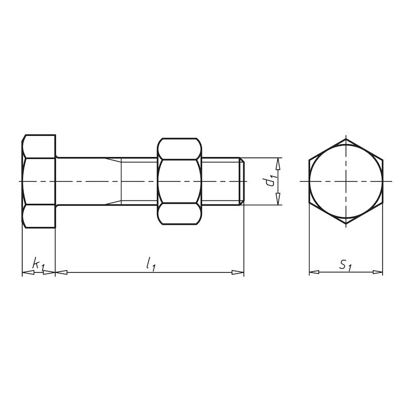 Sechskantschraube mit Schaft - 2