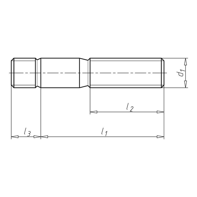 Stiftschraube mit Einschraubende ≈ 1 d - 2