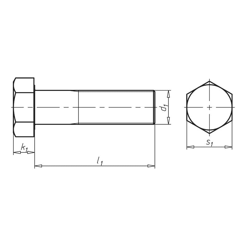 Sechskantschraube mit Schaft und Feingewinde  - 2