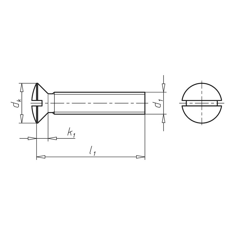 Linsensenkschraube mit Schlitz - 2
