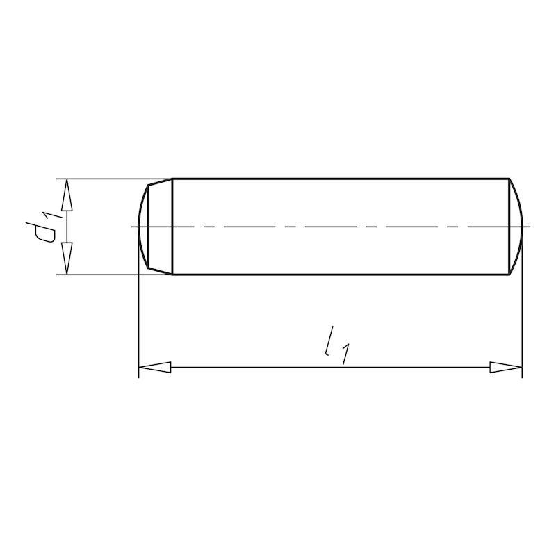 Cilindrische pen, gehard - PEN-CIL-DIN6325-GEH-M6-6X16