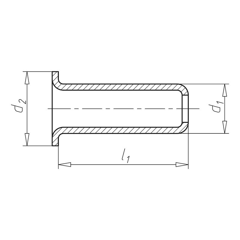 Hohlniete einteilig - NT-DIN7339-MS-3X0,2X6