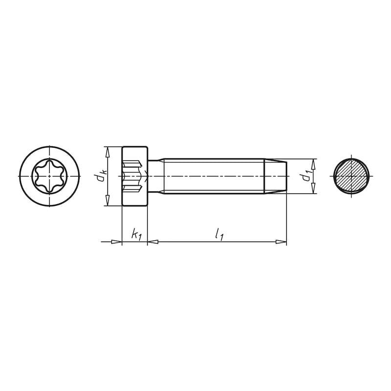 GEFU DIN 7500-1 pozink. oceľ TX tvar OE - SKRUTKA-VALC-DIN7500-OE-TX45-M8,0X16