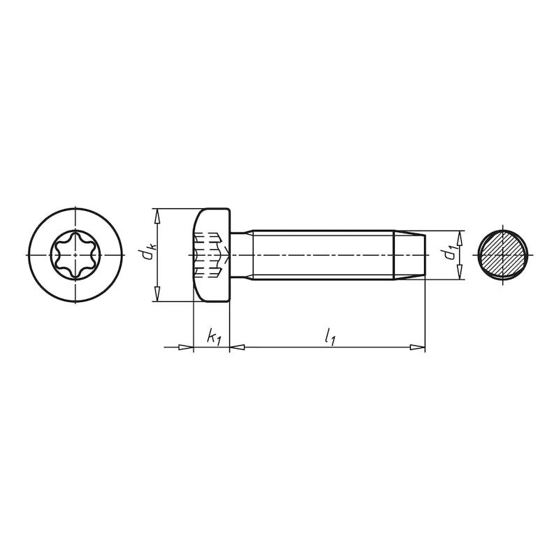 GEFU DIN 7500-1 çelik, çinko kaplı, TX, PE şekilli - 2