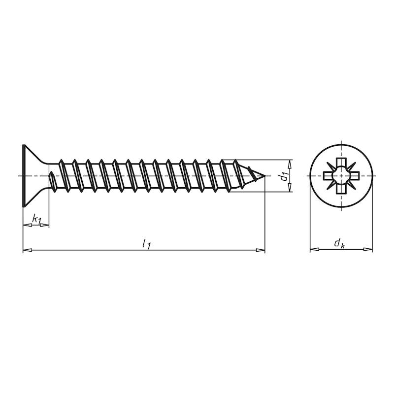 Blechschrauben SK  DIN 7982 EDELSTAHL A2  4,2 X 16 25 St