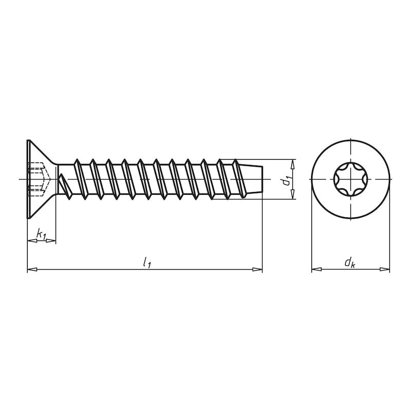 Blechschraube Senkkopf - 2