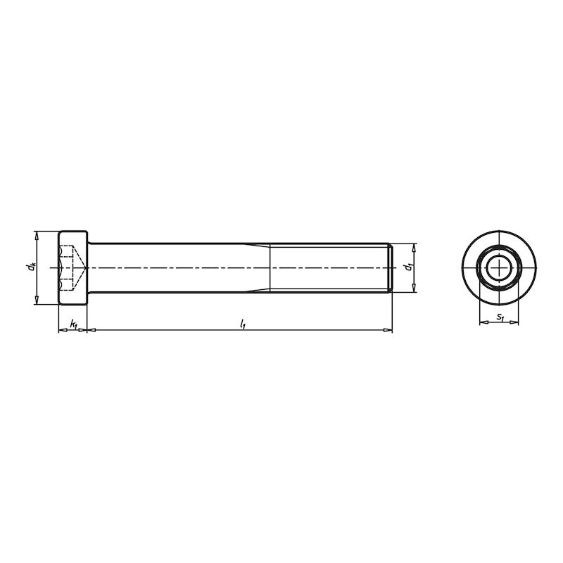 Zylinderschraube mit Innensechskant und niedrigem Kopf - 2